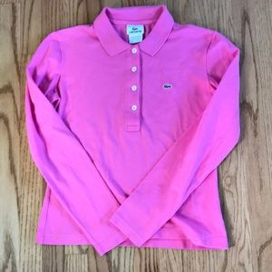 Right Pink Lacoste long sleeve